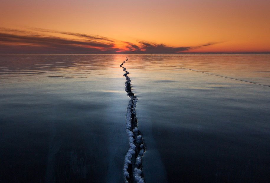 Cracking The Surface - Lake Baikal, Siberia, Russia